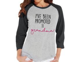 Pregnancy Announcement - Promoted to Grandma Shirt - Grey Raglan Shirt -... - $21.00