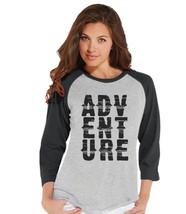 Camping Shirt - Women's Adventure Shirt - Grey Raglan T-shirt - Camping,... - $21.00