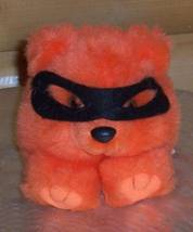 Puffkins TRICK Plush Orange Bear with Black Halloween Mask - $5.29