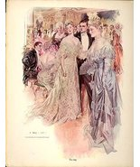 Today & Yesterday by HENRY HUTT 2 Antique Plates 1908 - $59.99