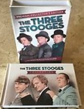THE THREE STOOGES - PREMIUM COLLECTOR'S EDITION - 6 DVDs plus Hardcover Book image 3