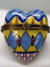 Gorgeous Collectible Heart shaped Porcelain trinket - $39.99