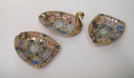 1900-1950 hand painter Japanese Ardalt Porcelain Swan Stacked Ashtrays 6... - $69.99