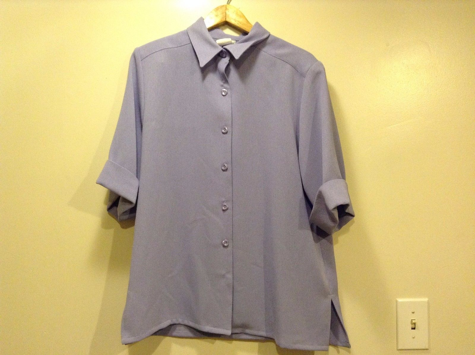Great Condition Bleyle Lilac Button Up Cuffed Shirt 100% Polyester