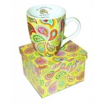 "Paisley Inspirational Ceramic Mug In Gift Box ""The Lord Bless You and Ke... - $12.98"