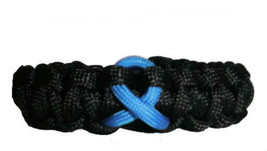Colon Cancer Blue Awareness Ribbon Paracord Bra... - $6.95