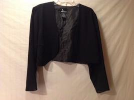 Great Condition Women's KS Collection Black Short Blazer Size 1X Sheer Arms