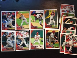 2010 Angels Topps Los Angeles Complete Set 17 Cards Weaver Matsui Napoli... - $4.24