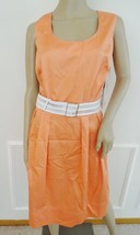 Nwt Calvin Klein Casual Day  Pleated Fit & Flare Dress Sz 18W Plus Peach... - $59.35