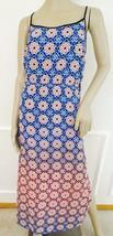 Nwt Vince Camuto Moroccan Mirage Georgette Slip Maxi Dress Sz S Small Bl... - $59.35