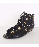 Ivy Kirzhner Women Barcelona Gladiator Cutout Lace Up Sandal Sz 8 M Bla... - $197.95