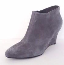 NIB Cole Haan Jordyn II Suede Ankle Bootie High Wedge Boots Sz 7.5 M Gra... - $138.54