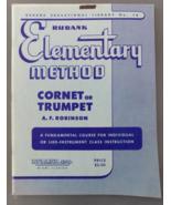Rubank Elementary Method for Cornet/Trumpet - Robinson - $8.50