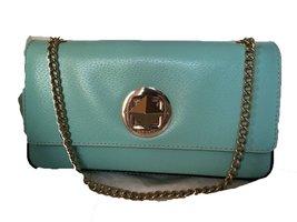 Kate Spade Grand Street Angelina Robins Egg Blue Leather Shoulder Bag - $169.95