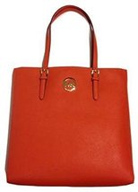 Michael Kors Jet Set Large Saffiano N/S Tote - Burnt Orange - $175.99
