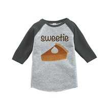 Custom Party Shop Baby's Sweetie Pie Thanksgiving 3T Grey Raglan - $20.58