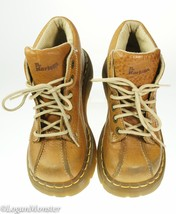 Dr. Martens Brown Soft Leather Boots Shoes Wome... - $39.54