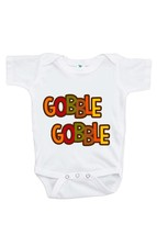 Custom Party Shop Unisex Baby Gobble Gobble Thanksgiving Onepiece 0-3 Months ... - $14.21