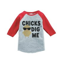 Custom Party Shop Boy's Easter Vintage Baseball Tee 4T Red and Black - $20.58