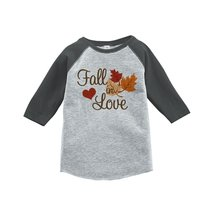 Custom Party Shop Baby's Fall In Love Thanksgiving 4T Grey Raglan - $20.58