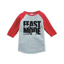 Custom Party Shop Baby's Feast Mode Thanksgiving 4T Red Raglan - $20.58