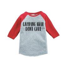 Custom Party Shop Unisex Camping Hair Outdoors Raglan Tee 4T Red - $20.58