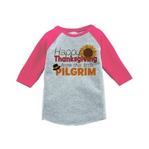 Custom Party Shop Baby's Happy Thanksgiving 3T Pink Raglan - $20.58
