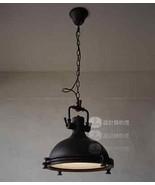 Vintage RH Style Harmon Ceiling Lamp Matte Black Hanging Pendant Chandel... - $166.90