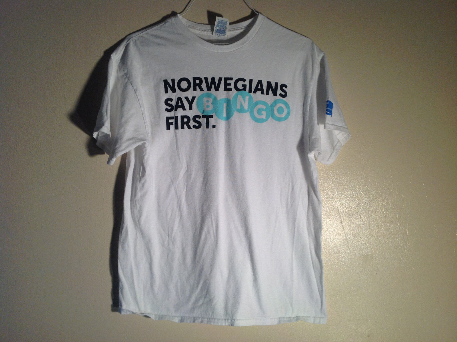 Delta Pro Weight white Norweaians say Bingo First Tee Short sleeve