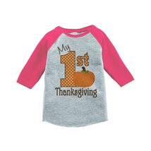 Custom Party Shop Baby's 1st Thanksgiving 5T Pink Raglan - $20.58