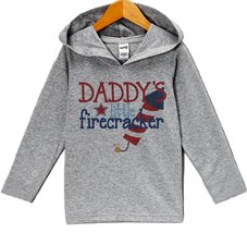 Custom Party Shop Baby Boy's Daddy's Firecracker 4th of July Hoodie Pullover ... - $22.05