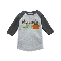 Custom Party Shop Baby's Mommy's Little Pumpkin 4T Grey Raglan - $20.58