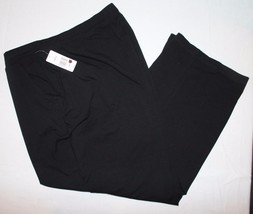 Kim Rogers True Black Pants 3X Short NWT Womens New Casual - $24.79