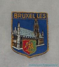 Vintage 60s Bruxelles Hotel De Ville Belgium Embroidered Souvenir Sew On... - $12.59