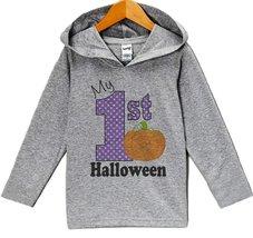 Custom Party Shop My 1st Halloween Hoodie 3T Grey - $22.05