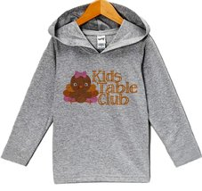 Custom Party Shop Girl's Kid's Table Thanksgiving Hoodie 5T Grey - $22.05
