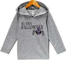 Custom Party Shop Baby First Halloween Hoodie 12 Months Grey - $22.05