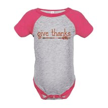 Custom Party Shop Baby's Give Thanks Thanksgiving Onepiece 6 Months Pink - ₨1,518.90 INR