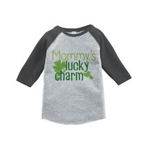 Custom Party Shop Boy's St. Patrick's Day Vintage Baseball Tee 5T Grey and Green - $20.58