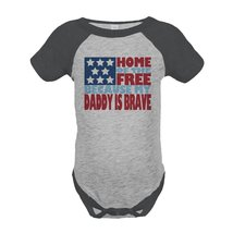 Custom Party Shop Kid's 4th of July Raglan Onepiece 6 Months Grey - $20.58