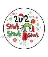 30 2020 STINK STANK STUNK ENVELOPE SEALS LABELS STICKERS CHRISTMAS GRINC... - $4.99