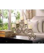 Tolbsplace Antiqued Iron 5 Candle Holder Rustic Candelabra Stand Table C... - $42.03