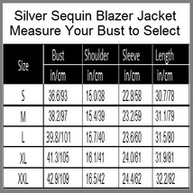 Sparkling Silver Sequined Hip Night Club DJ Blazer Turn Down Collar Coat Jacket image 4