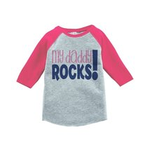 Custom Party Shop Girls' Father's Day Vintage Baseball Tee 2T Pink - $20.58