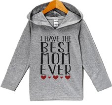 Custom Party Shop Baby Boy's Mother's Day Hoodie Pullover 3T Grey and Red - $22.05