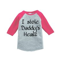Custom Party Shop Girls' Father's Day Vintage Baseball Tee 2T Black - $20.58