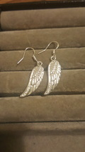 SILVER PLATED WINGS DANGLE EARRINGS   C/S & H AVAILABLE - $2.50