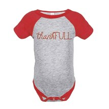 Custom Party Shop Baby's ThankFULL Thanksgiving Onepiece 6 Months Red - $20.58