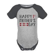 Custom Party Shop Boy's 1st Mothers Day Onepiece 18 Months Grey and Black - $20.58