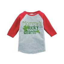 Custom Party Shop Boy's St. Patrick's Day Vintage Baseball Tee 4T Red and Grey - $20.58
